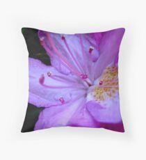 The inner workings of a flower  ^ Throw Pillow