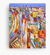 City rush Canvas Print