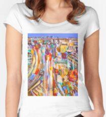 City rush Women's Fitted Scoop T-Shirt