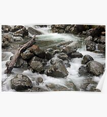 Whitewater - Arthur's Pass National Park, New Zealand Poster