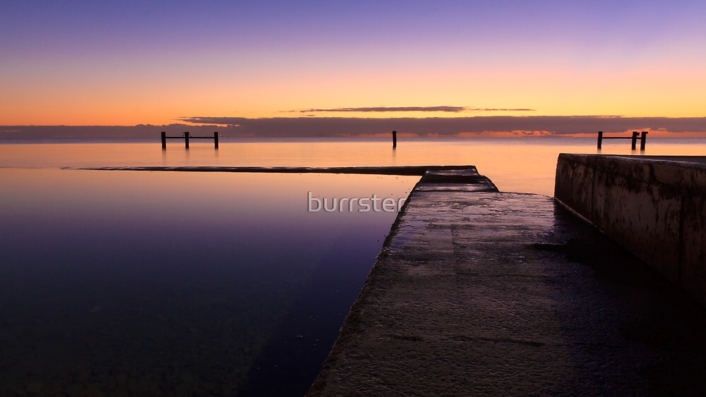 Sunrise at Edithburgh Tidal pool, South Australia by burrster