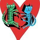 Love Cats, cool kitty cats. by Kristina Evans