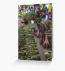 Exotic Root Vegetables Greeting Card