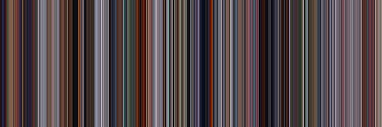 Moviebarcode: The Incredibles (2004) [Simplified Colors] by moviebarcode