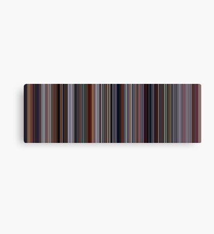 Moviebarcode: The Incredibles (2004) [Simplified Colors] Canvas Print