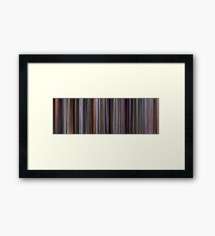 Moviebarcode: The Incredibles (2004) Framed Print