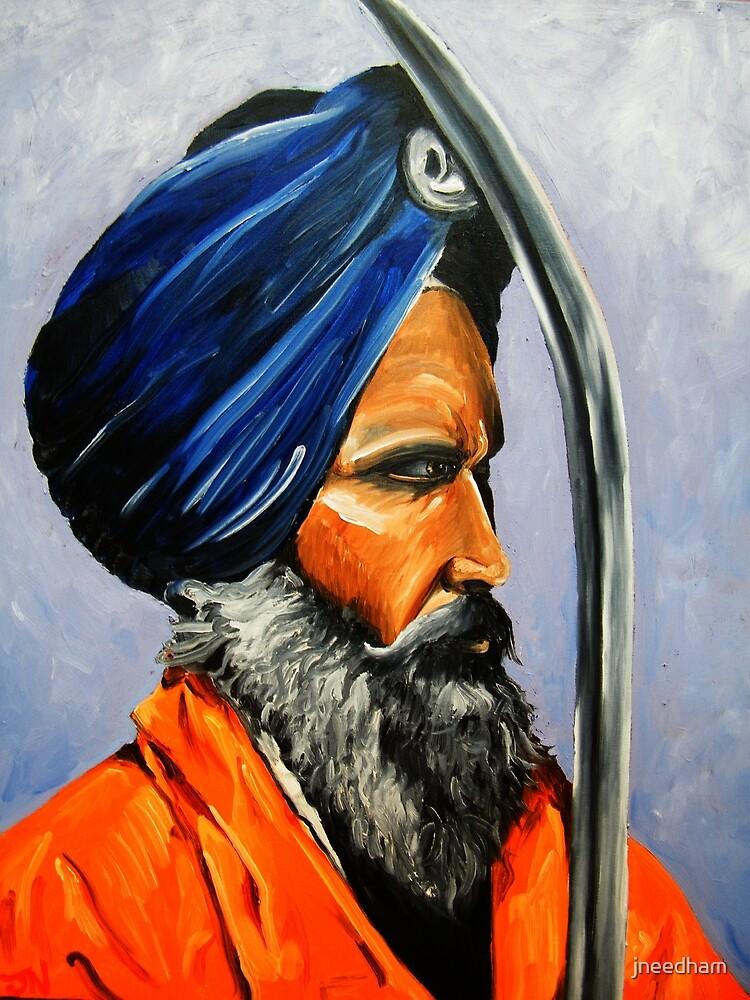 Sikh on patrol- Golden temple,Amritsar,India by James Needham