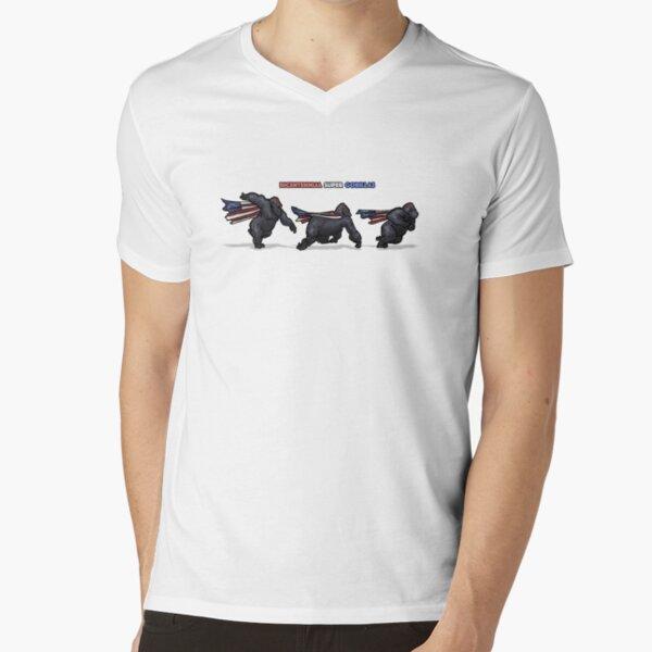Bicentennial Super Gorillas V-Neck T-Shirt