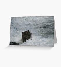 Castle Rock Water Art Greeting Card