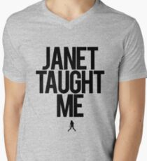 Janet Taught Me - Black Men's V-Neck T-Shirt