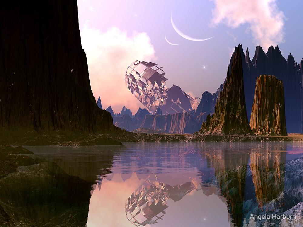 Derelict Spaceship - Lake of Tears by Angela Harburn