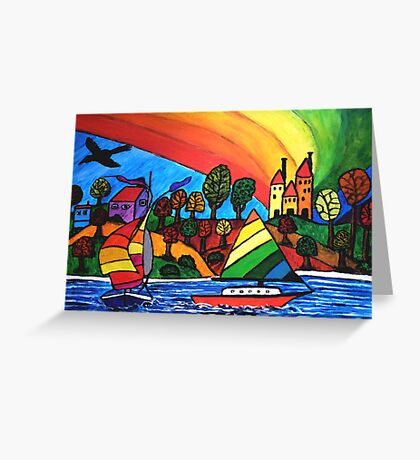 Rainbow Valley Greeting Card