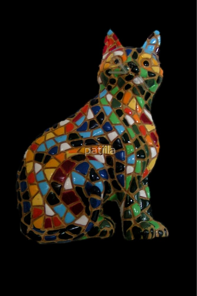 Full Colour Mosaic Cat by patjila