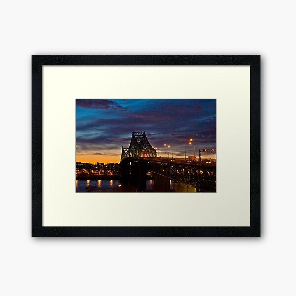 Pont Jacques-Cartier Montréal Framed Art Print