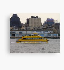 Water Taxi, New York, USA Canvas Print
