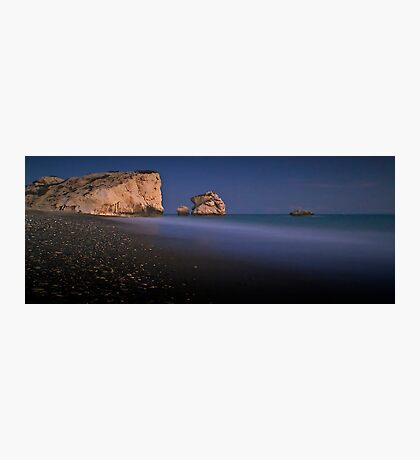 After Dark On Aphrodite's Rock Photographic Print