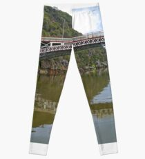 Kings Bridge and Cataract Gorge, Launceston Tas, Australia Leggings