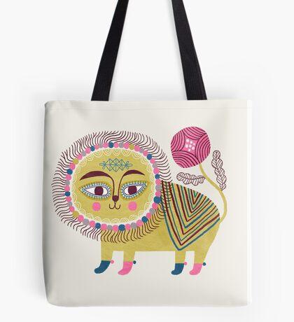 Folk Lion Tote Bag