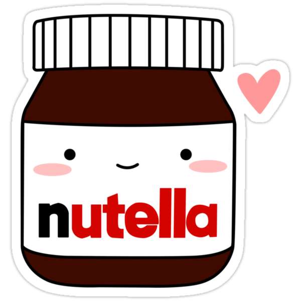 """Cute Nutella jar"" Stickers by cafebunny 