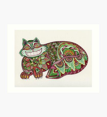 The Christmas Cheshire Art Print