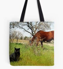Mustang and Friend Tote Bag