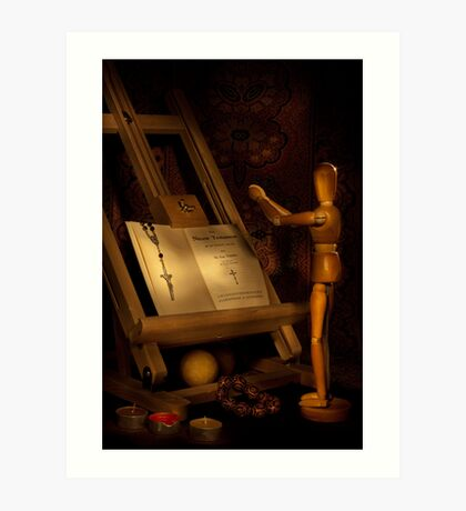 The Conversion of a Wooden Dummy Art Print