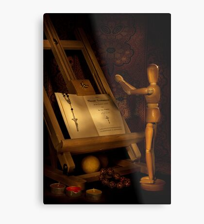 The Conversion of a Wooden Dummy Metal Print