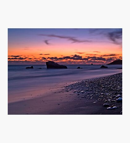 Sunset Over Aphrodite's Beach Photographic Print