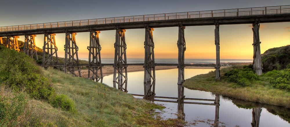 Kilcunda Rail Bridge • Victoria by Frank Moroni