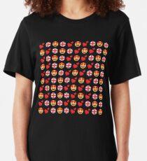 Camiseta ajustada Amor Inglaterra Británica Emoji JoyPixels Viaje a Gran Bretaña