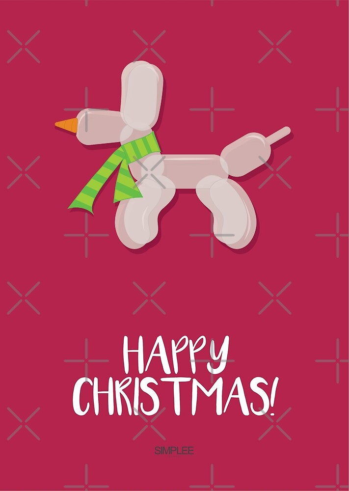 Simplee Cards: Balloon Dog - Happy Christmas by SimpleeShop