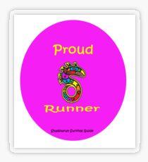 Proud Runner Transparent Sticker