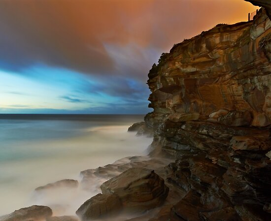 Wet Cliff by Mark  Lucey