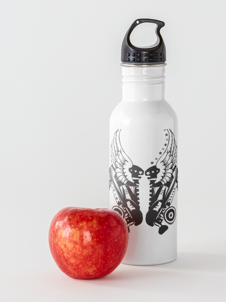 Alternate view of Roller Derby Skates With Wings Water Bottle