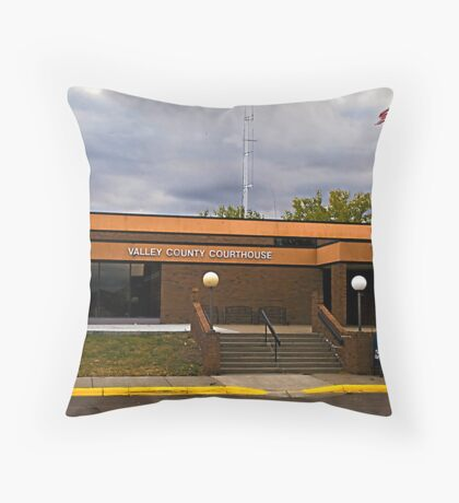 Valley County (Montana) Court House Throw Pillow