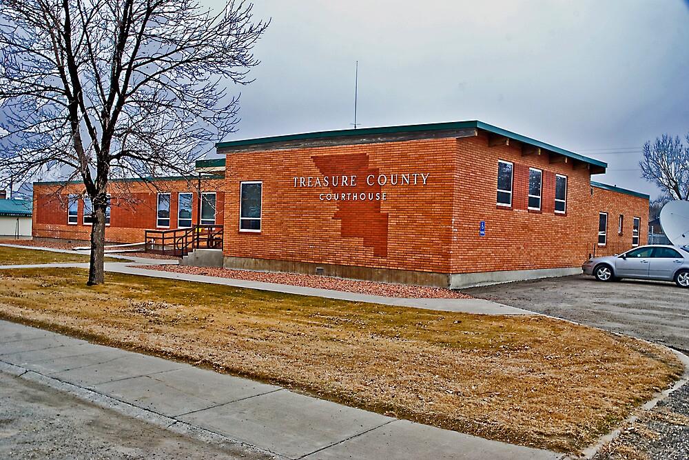 Treasure County (Montana) Court House by Bryan D. Spellman