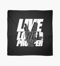 LIVE LONG AND PROSPER Star Trek quota slogan slogan with silhouette of volcano greeting Scarf