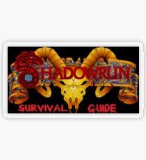 Shadowrun Survival Guide Original Logo Transparent Sticker