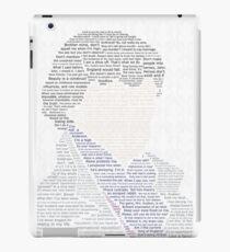 BBC Sherlock Holmes Typography iPad Case/Skin
