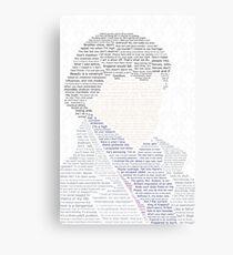 BBC Sherlock Holmes Typography Canvas Print