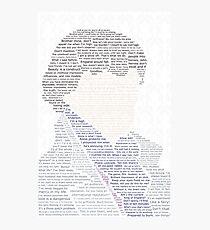 BBC Sherlock Holmes Typography Photographic Print