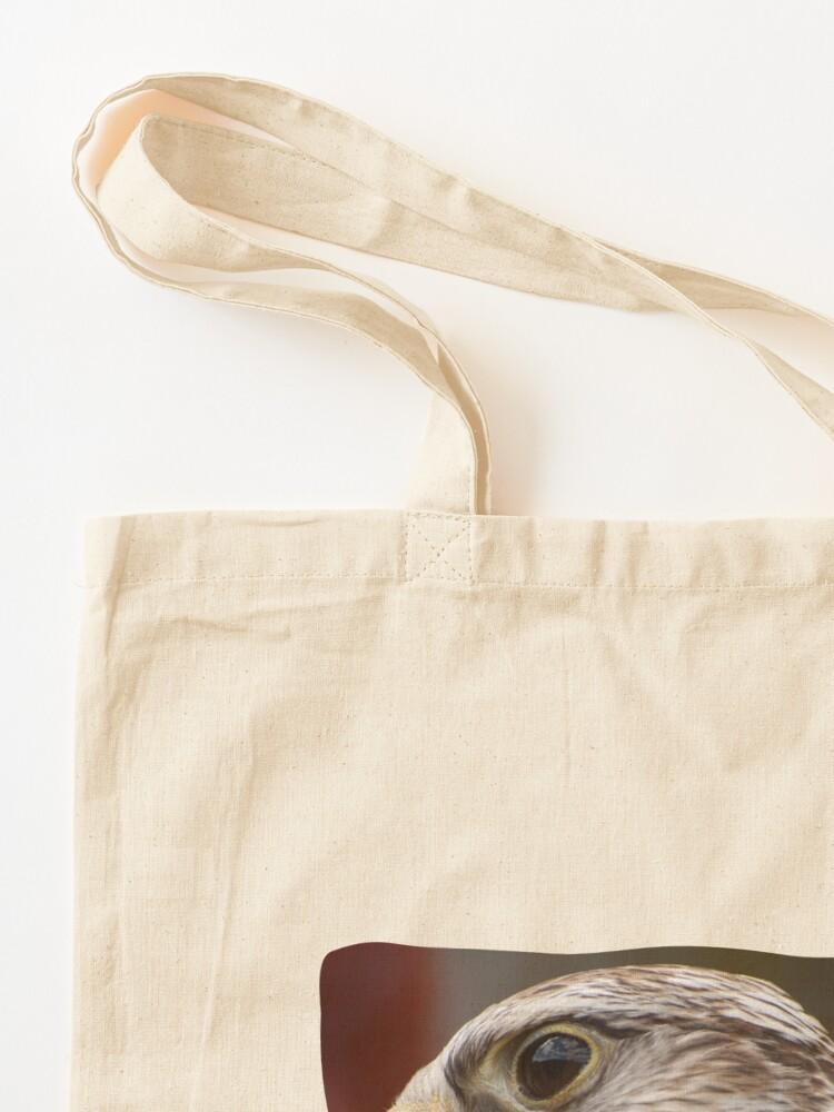 Alternate view of hawk Tote Bag