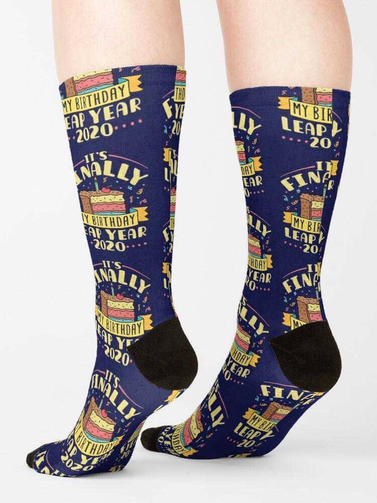 Alternate view of Leap Year 2020 It's Finally My Birthday Socks