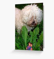 Land of the giant (dogs) Greeting Card