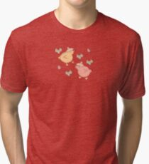 Shower Ducklings - Light Tri-blend T-Shirt