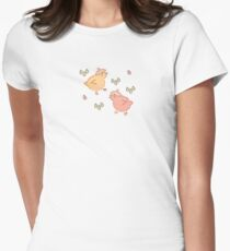 Shower Ducklings - Light Fitted T-Shirt