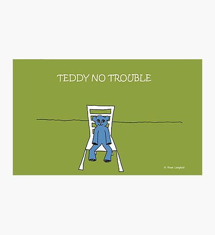 TEDDY NO TROUBLE Photographic Print