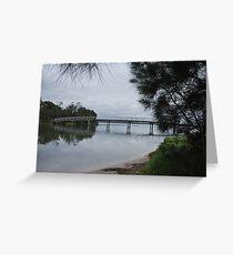the foot bridge Greeting Card