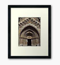 Jak Church Entrance, Budapest Framed Print