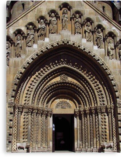 Jak Church Entrance, Budapest by wiggyofipswich